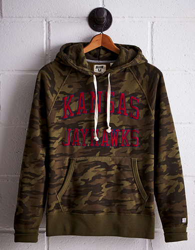 Tailgate Men's Kansas Camo Hoodie - Free Returns