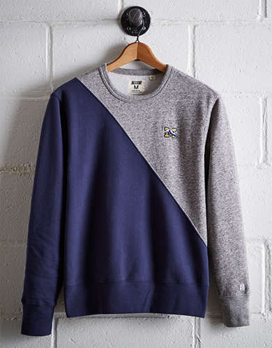 Tailgate Men's Michigan Diagonal Colorblock Sweatshirt - Buy One Get One 50% Off