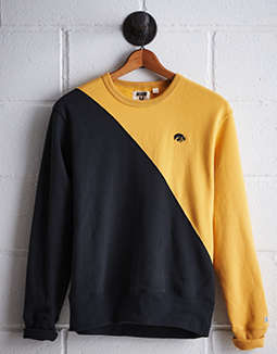 Tailgate Men's Iowa Diagonal Colorblock Sweatshirt by American Eagle Outfitters
