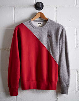 Tailgate Men's Georgia Diagonal Colorblock Sweatshirt