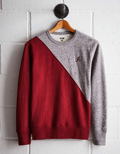 Tailgate Men's Alabama Diagonal Colorblock Sweatshirt - Free Returns