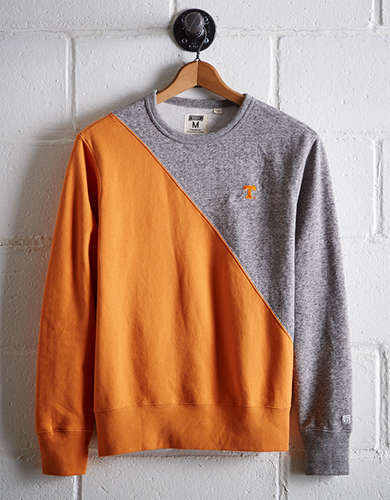 Tailgate Men's Tennessee Diagonal Colorblock Sweatshirt - Free returns