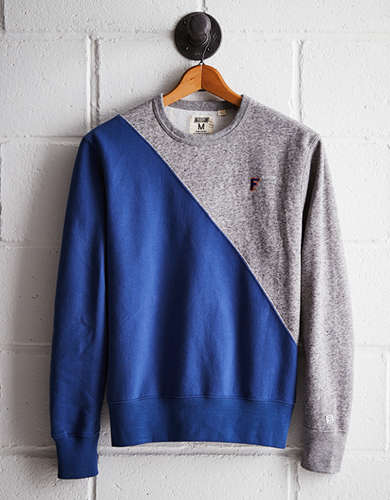 Tailgate Men's Florida Diagonal Colorblock Sweatshirt - Free Returns