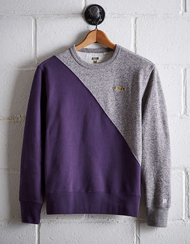 Tailgate Men's LSU Diagonal Colorblock Sweatshirt - Free shipping & returns with purchase of NBA item