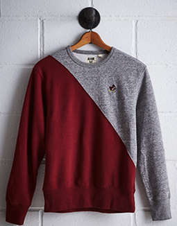 Tailgate Men's Isu Diagonal Colorblock Sweatshirt by American Eagle Outfitters