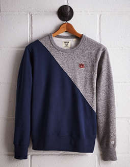 Tailgate Men's Auburn Diagonal Colorblock Sweatshirt