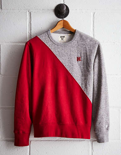 Tailgate Men's Nebraska Diagonal Colorblock Sweatshirt - Buy One Get One 50% Off