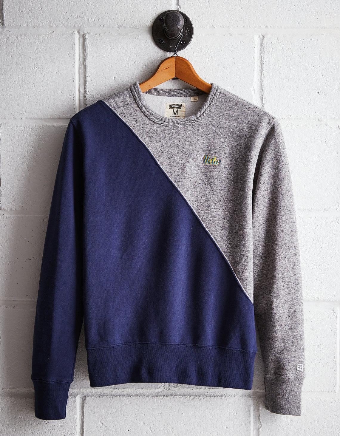 36e684bb3871 Tailgate Men s UCLA Diagonal Colorblock Sweatshirt