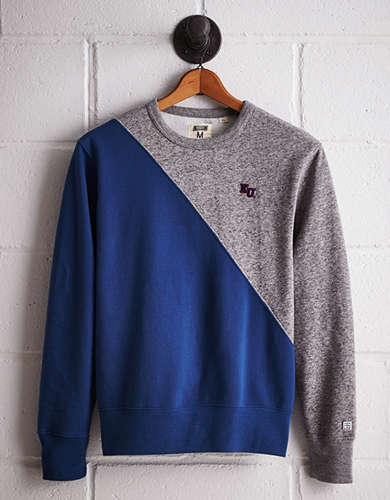 Tailgate Men's Kansas Colorblock Sweatshirt - Free Returns