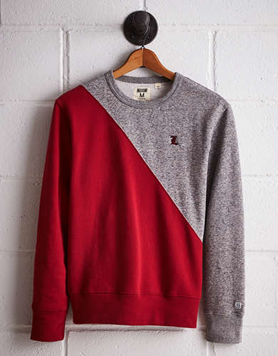 Tailgate Men's Louisville Colorblock Sweatshirt - Free Returns