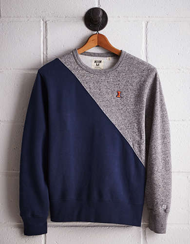 Tailgate Men's Illinois Colorblock Sweatshirt - Free returns