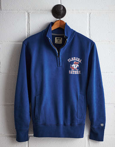 Tailgate Men's Florida Half-Zip Fleece Popover - Free Returns
