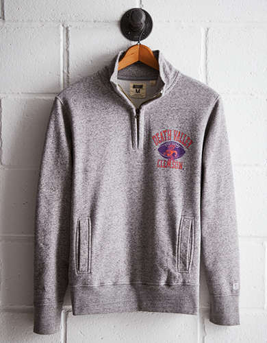 Tailgate Men's Clemson Half-Zip Fleece Popover - Free Returns