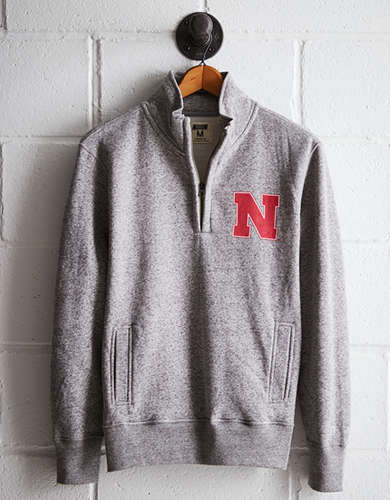 Tailgate Men's Nebraska Half-Zip Fleece Popover - Free Returns