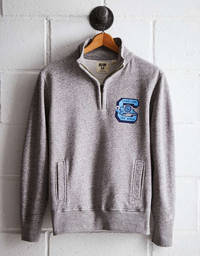 Tailgate Men's UNC Half-Zip Fleece Popover - Free Returns