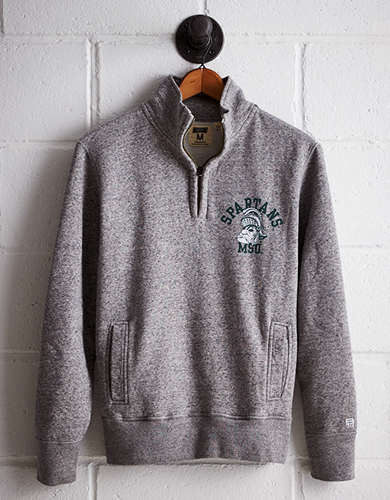 Tailgate Men's Michigan State Half-Zip Fleece Popover - Free returns