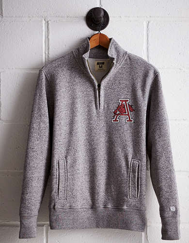 Tailgate Men's Arkansas Half-Zip Fleece Popover - Free Returns