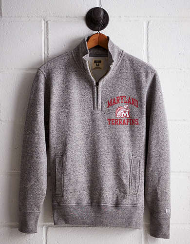 Tailgate Men's Maryland Half-Zip Fleece Popover - Free Returns