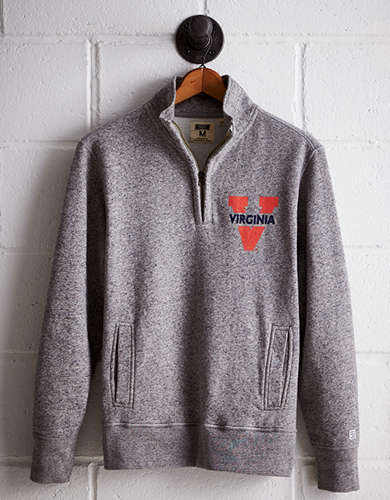 Tailgate Men's UVA Half-Zip Fleece Popover - Free Returns
