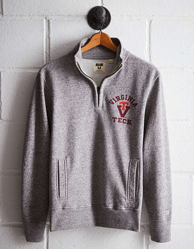 Tailgate Men's Virginia Tech Half-Zip Fleece Popover - Free Returns