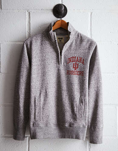 Tailgate Men's Indiana Half-Zip Fleece Popover - Free Returns