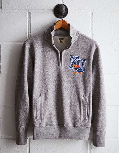 Tailgate Men's Kansas Half-Zip Fleece Popover - Free Returns
