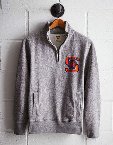 Tailgate Men's Syracuse Half-Zip Fleece Popover - Free Returns