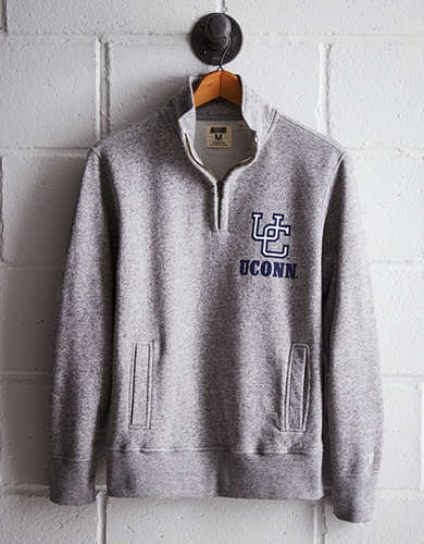 Tailgate Men's UCONN Half-Zip Fleece Popover - Free Returns