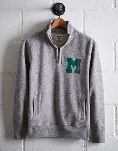 Tailgate Men's Miami Half-Zip Fleece Popover - Free Returns