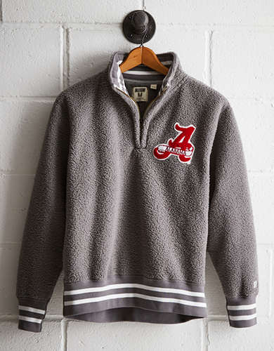 Tailgate Men's Alabama Sherpa Fleece Half-Zip - Free returns