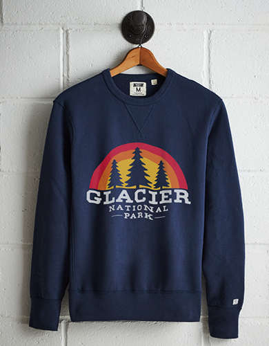 Tailgate Men's Glacier National Park Fleece Sweatshirt - Free Returns