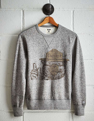 Tailgate Men's Smokey the Bear Fleece Sweatshirt - Free Returns