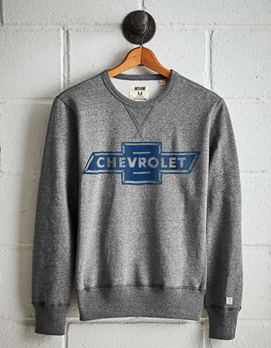 Tailgate Men's Chevrolet Fleece Sweatshirt - Free Returns