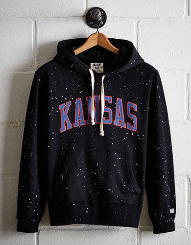 Tailgate Men's Kansas Splatter Fleece Hoodie - Free Returns