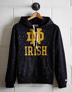 Tailgate Men's Notre Dame Splatter Fleece Hoodie