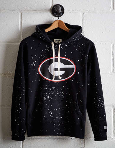 Tailgate Men's Georgia Splatter Fleece Hoodie - Free Returns