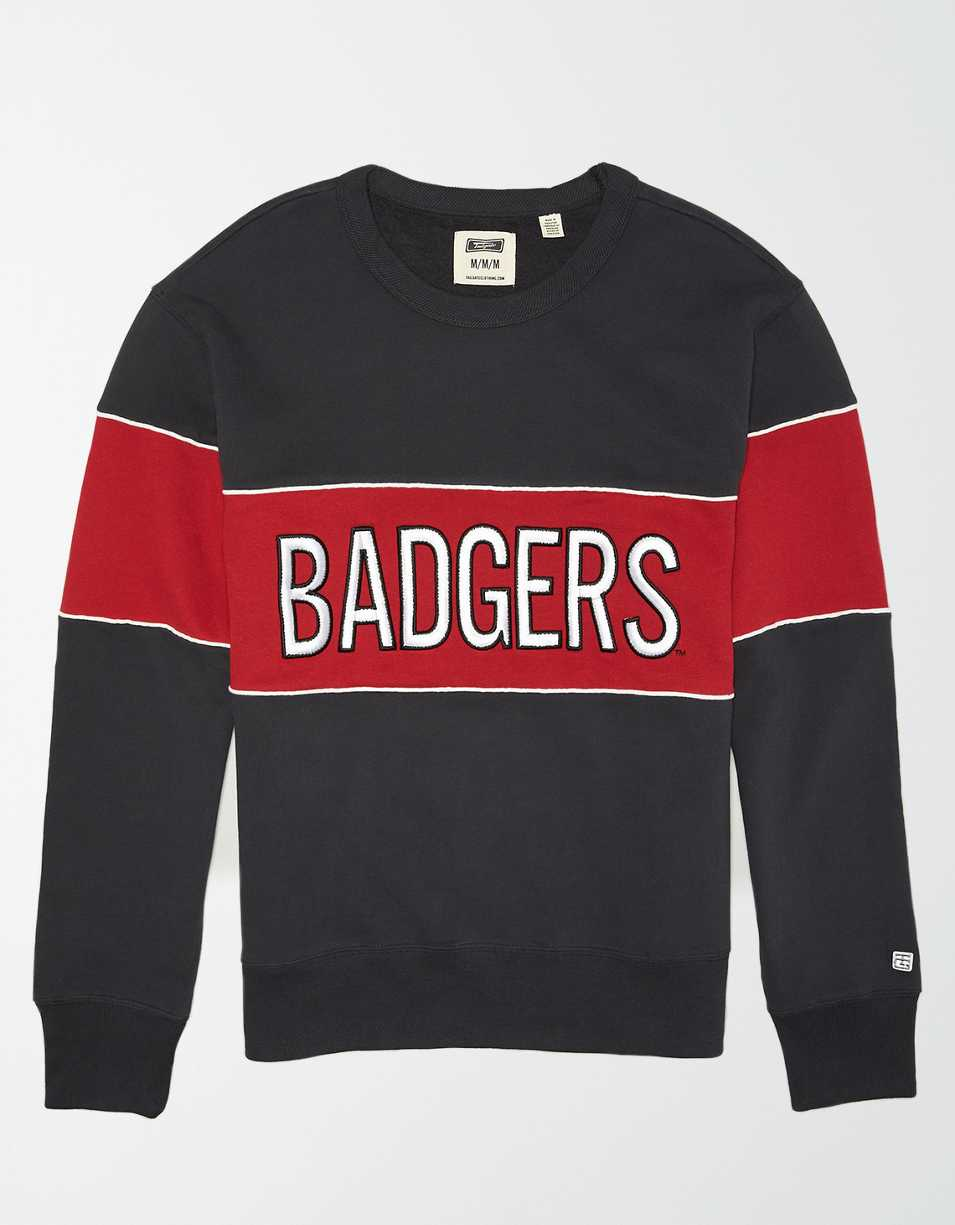 Tailgate Men's Wisconsin Colorblock Fleece Sweatshirt