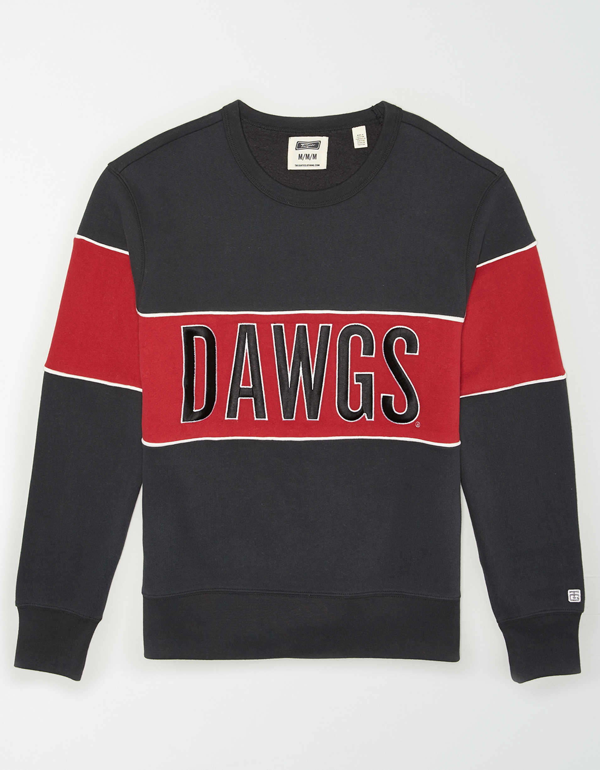 Tailgate Men's Georgia Bulldogs Colorblock Fleece Sweatshirt