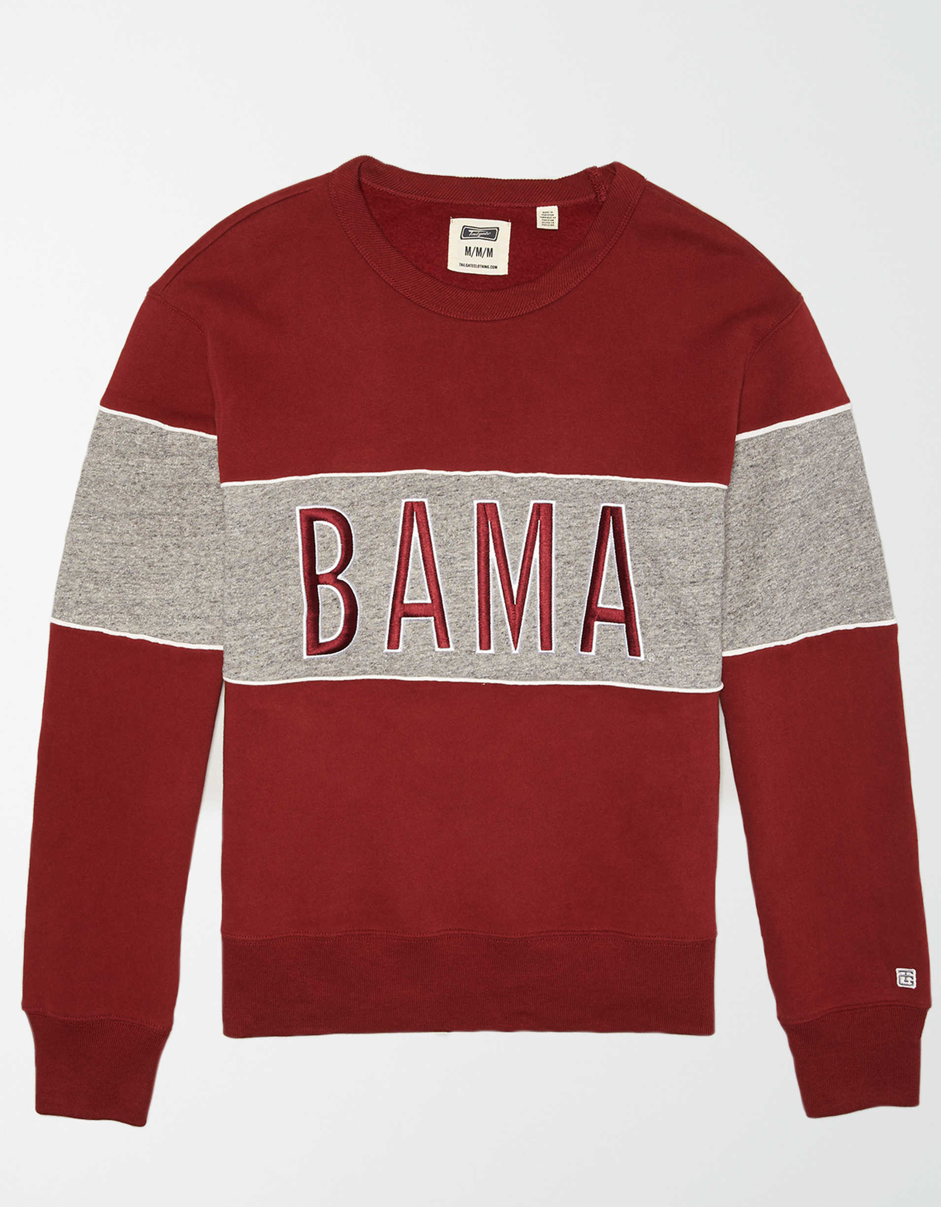 Tailgate Men's Alabama Crimson Tide Colorblock Fleece Sweatshirt