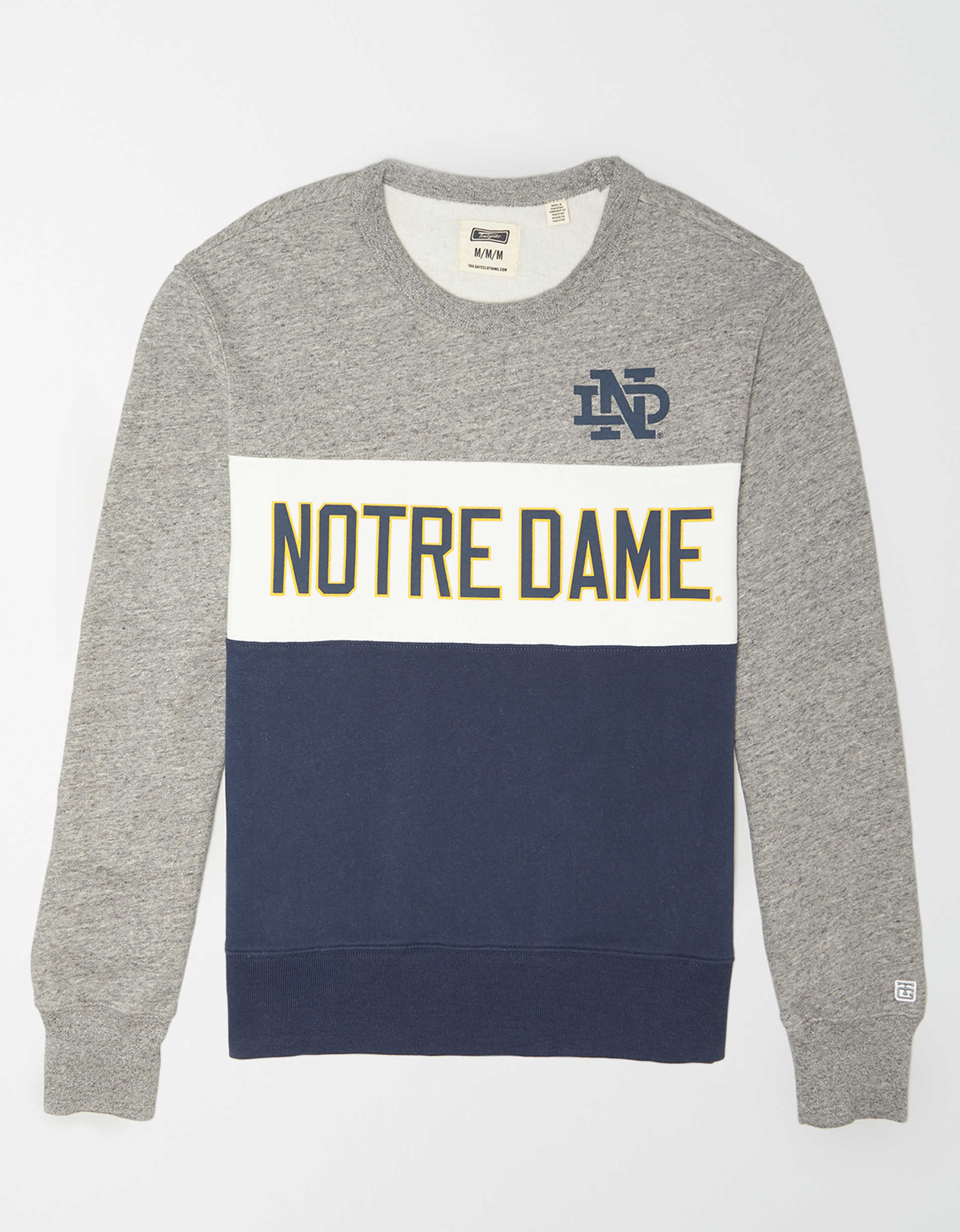 Tailgate Men's Notre Dame Colorblock Fleece Sweatshirt