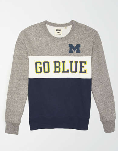 Tailgate Men's Michigan Wolverines Colorblock Fleece Sweatshirt