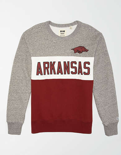 Tailgate Men's Arkansas Razorbacks Colorblock Fleece Sweatshirt