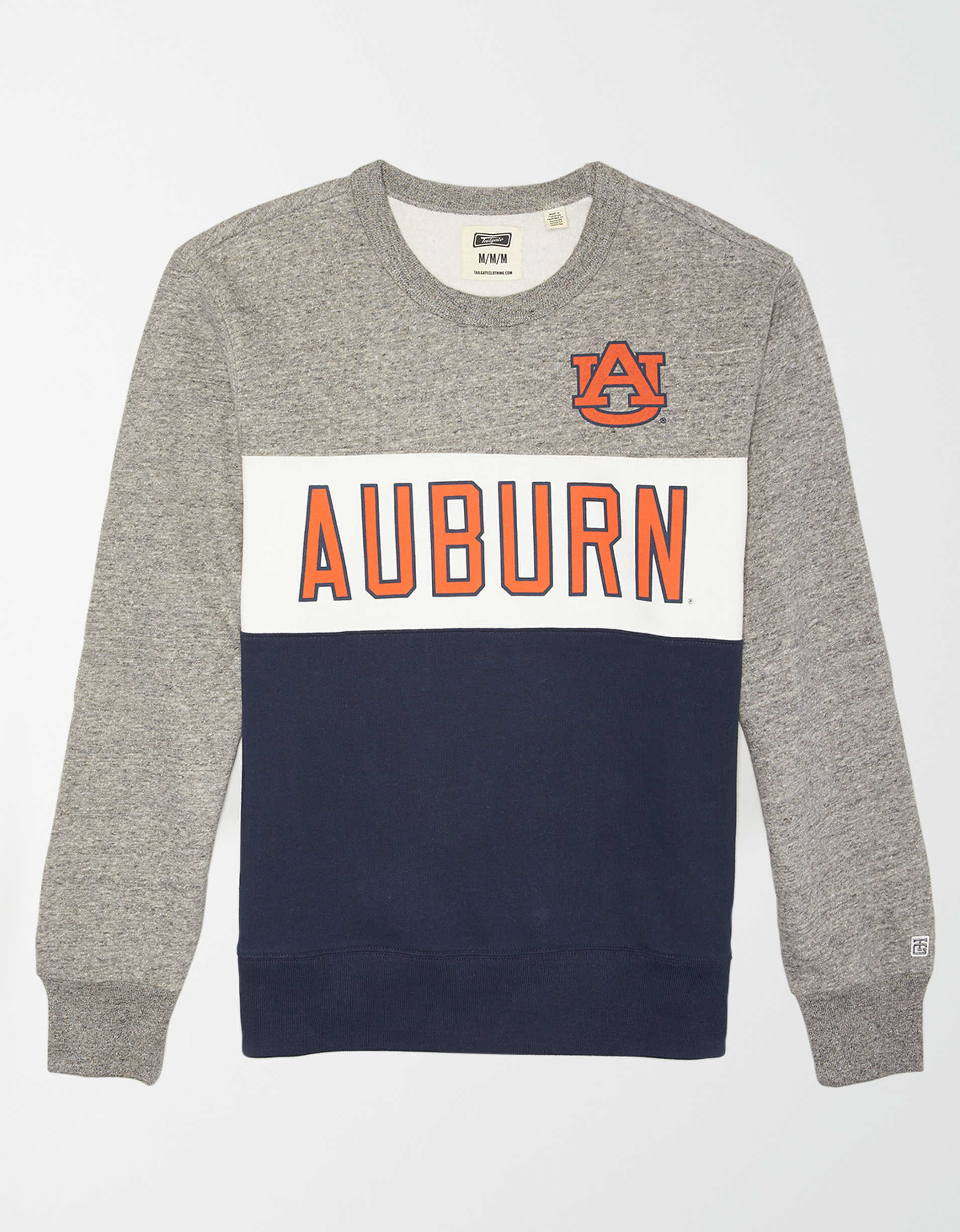 Tailgate Men's Auburn Tigers Colorblock Fleece Sweatshirt