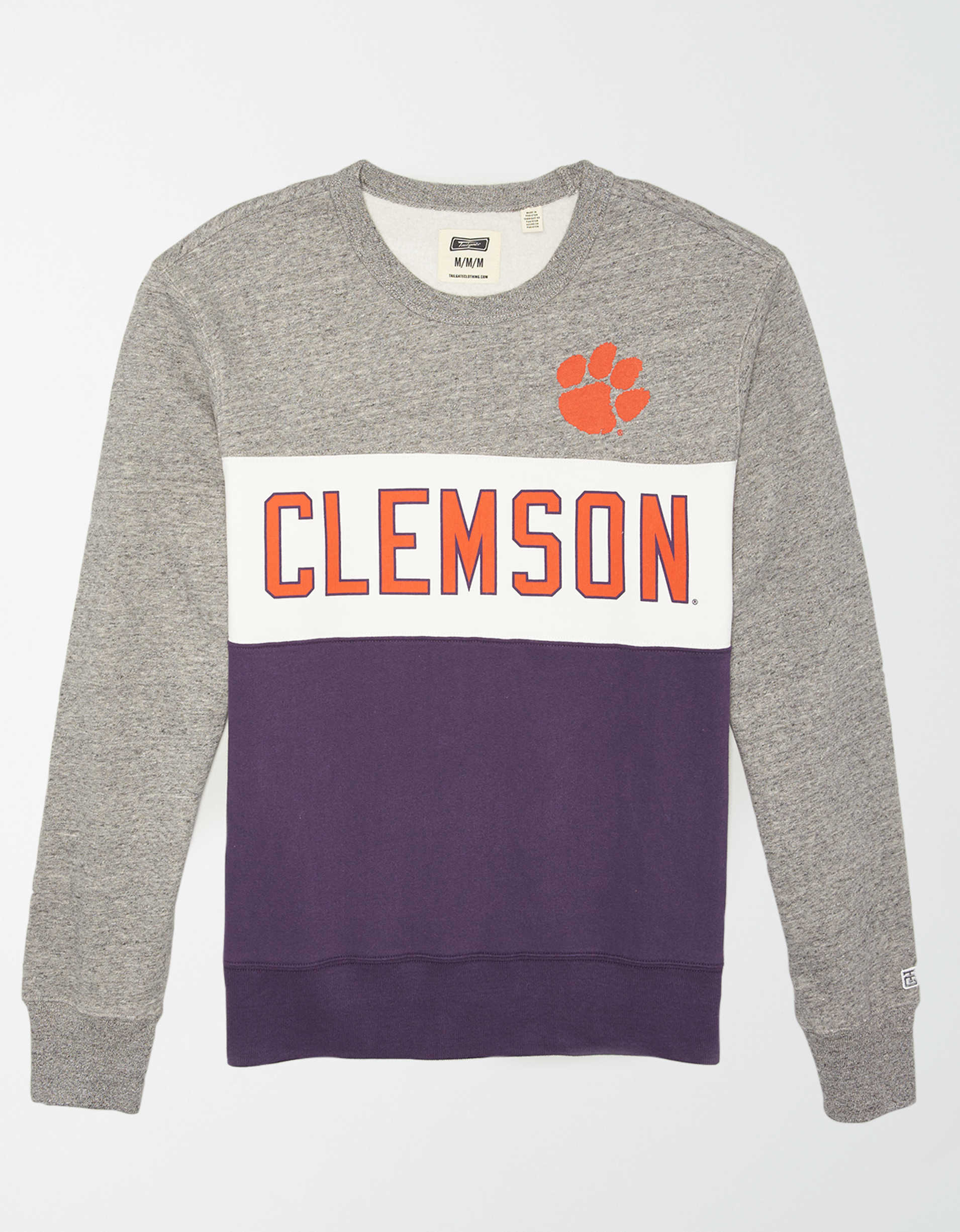Tailgate Men's Clemson Tigers Colorblock Fleece Sweatshirt