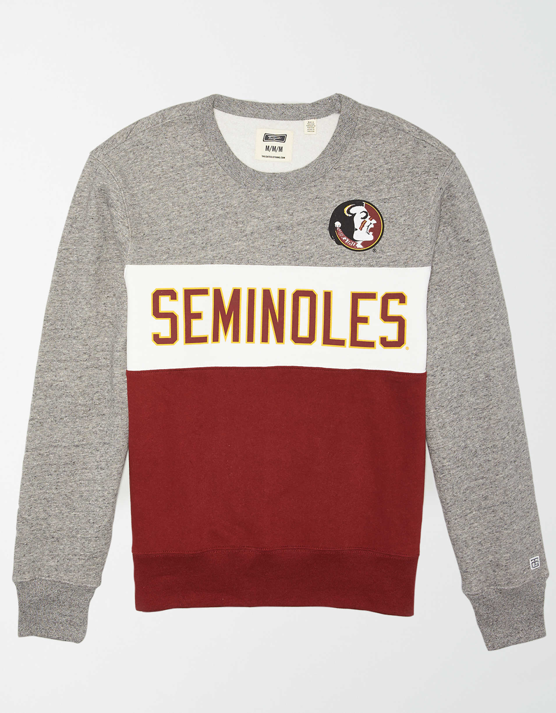 Tailgate Men's FSU Seminoles Colorblock Fleece Sweatshirt