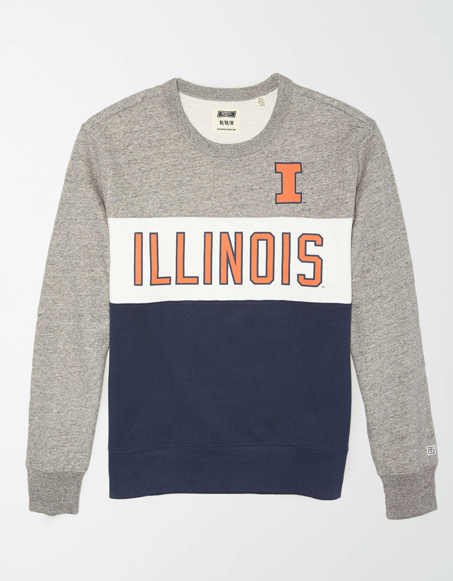 Tailgate Men's Illinois Illini Colorblock Fleece Sweatshirt