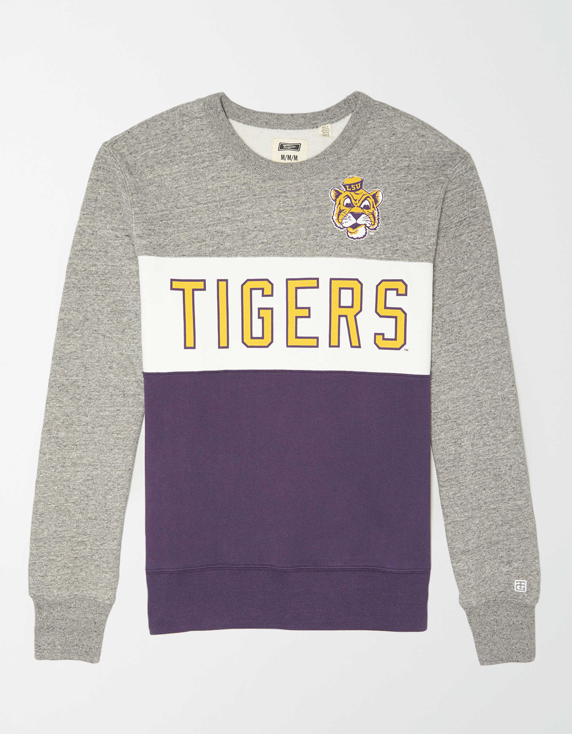 Tailgate Men's LSU Tigers Colorblock Fleece Sweatshirt