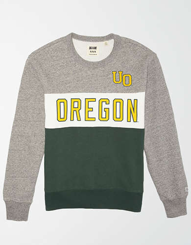 Tailgate Men's Oregon Ducks Colorblock Fleece Sweatshirt