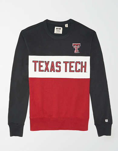 Tailgate Men's Texas Tech Red Raiders Colorblock Fleece Sweatshirt