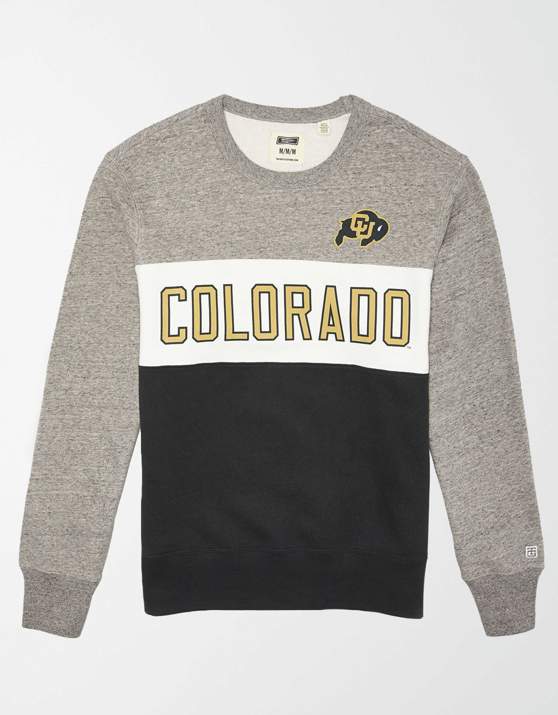 Tailgate Men's Colorado Buffaloes Colorblock Fleece Sweatshirt